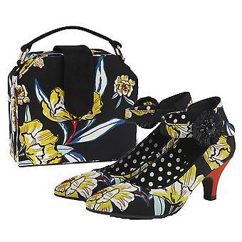 Ruby Shoo Women's Carla Kitten Heel Court Shoe & Matching Santa Fe Bag