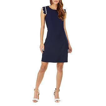Sugarhill Boutique Navy Kristy kampa simpukka yksityiskohtaisesti tunika mekko XS-XL 8-16