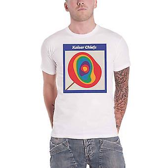 Kaiser Chiefs T Shirt Lollipop Band Logo new Official Mens White