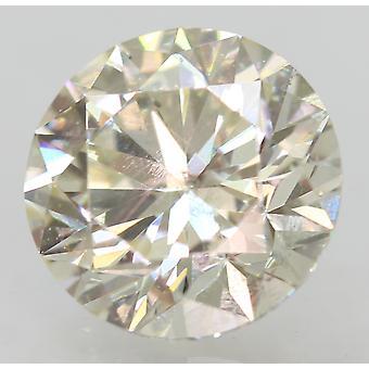 Certificado 1.11 Quilates I VS1 Ronda Brillante Diamante Natural Mejorado 6.58m EX CUT