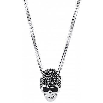 Swarovski necklace and pendant 1180839 - Taddeo Skull Black Finish Mix De M tal Homme
