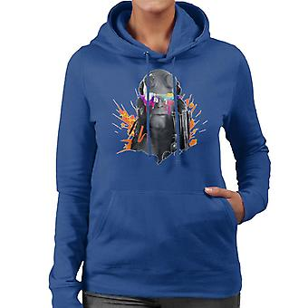 Hellboy II Paint Splatter Women's Hooded Sweatshirt