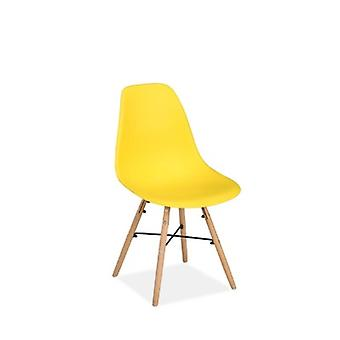 PAIR OF HEX CHAIRS YELLOW