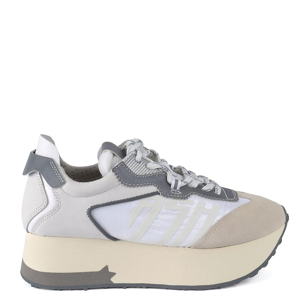 Ash ROXY Platform Trainers Grey & White zrnFx
