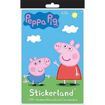 Stickerland Pad - Peppa Pig - 4 pages Toys Gifts Stationery New st5281