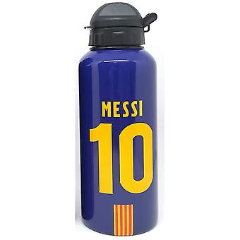 FC Barcelona Classic Water Bottle with Messi Motif