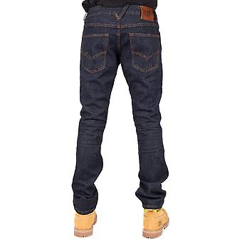CAT Lifestyle Mens Trax Slim Collin Leather Patch Jeans Trousers