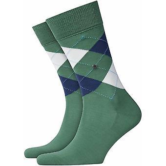 Calcetines Burlington Manchester - Verde/Blanco/Navy