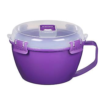 Sistema Klip It Microwave Noodle Bowl, 940ml, Purple