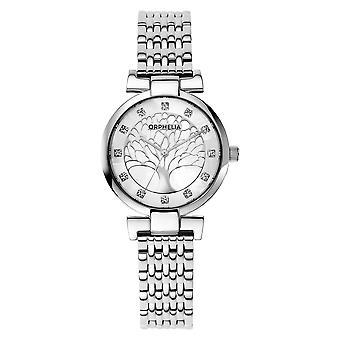 ORPHELIA naisten analoginen kello hopea ruostumaton teräs OR12700