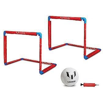 Messi Training System Foldable Goal Small Duo With Football and Pump