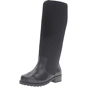 SoftWalk Womens Biloxi Leather Round Toe Mid-Calf Riding Boots