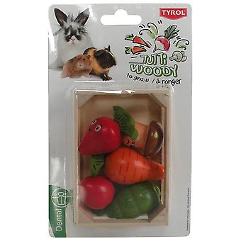 Tyrol Crated Veggies Tutti Woody (Roedores , Juguetes)