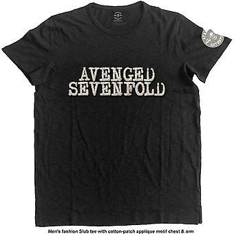 Avenged Sevenfold A7X Applique Motif Official Tee T-Shirt Mens Unisex