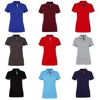Asquith & Fox Damen/Damen Kurzarm Kontrast Polo-Shirt