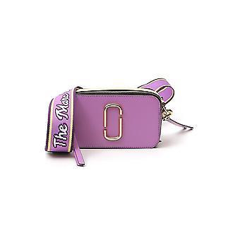 Marc Jacobs M0012007526 Damen's lila Leder Schultertasche
