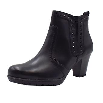 JAN 25305 Barzona Wide Fit Stylish Ankle Boot In Black