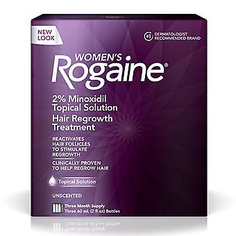 Rogaine hair regrowth treatment for women, 3 months supply, 1 kit