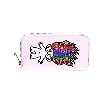 Retro Good Luck Trolls Rainbow Zip-Around Clutch Purse