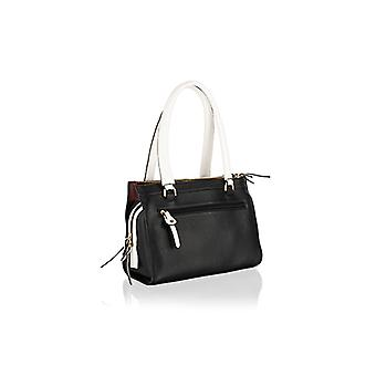 On-trend genuine leather fully lined zipped handbag with keyring attachment by Woodland Leathers