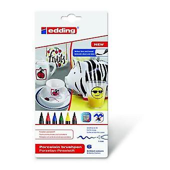 edding-4200 ass.porcelain brushpen family 6PC 1-4 mm / 4-4200-6