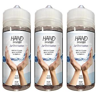 3-Pack Hand Sanitizer 70% Alcohol Hand Sanitzer 3x120ml