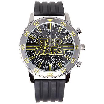 Star Wars Title Card Logo Classic Watch Avec Rubber Band