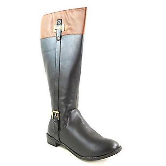 Karen Scott Deliee Wide Calf Tall Boots BlackCognac 10W