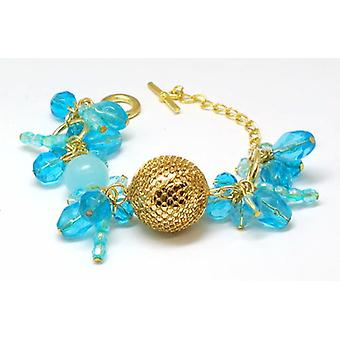 The Olivia Collection Goldtone & Blue Ball Bead Cluster 7