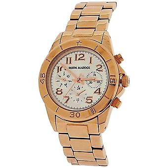Mark Maddox Ladies Multifunction Dial Goldtone Bracelet Strap Watch MM3006-05