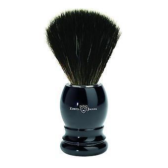 barberbørste / plasthåndtak / imitasjon ibenholt / svart syntetisk fiber
