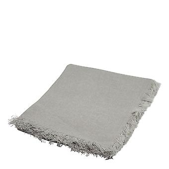 Mercer Linen Throw with fringes 125x150cm Stone
