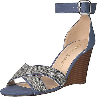 Athena Alexander Frauen's Zorra Keil Sandale, grau Wildleder, 8,5 M US