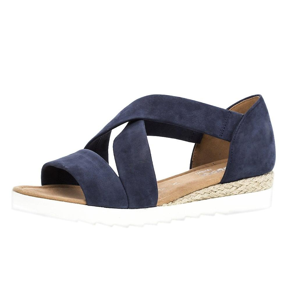 Gabor Promise Comfortable Fashion Sandals In Navy PP2U5
