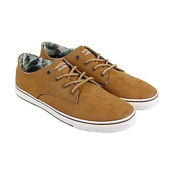 Tommy Bahama Dune Drifter  Mens Brown Leather Low Top Sneakers Shoes