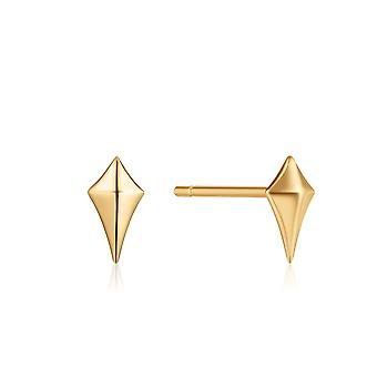 Ania Haie Ear We Go Shiny Gold Diamond Shape Stud Earrings E023-23G