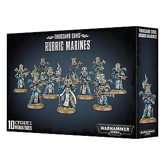 Thousand Sons Rubric Marines, 10 Citadel Minatures, Warhammer 40,000
