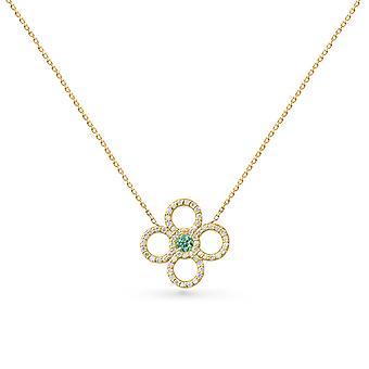 Ketting Juliette Couture 18K Goud en Diamanten - Geel Goud, Emerald
