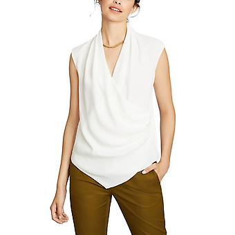 Brooks Brothers Women's Draped Crepe Faux-Wrap Top