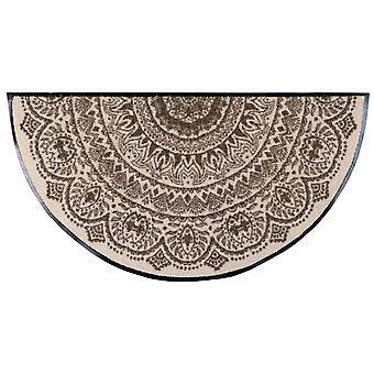 Salón León felpudo medallón turrón semicircular 42 x 85 cm. lavable polvo mat
