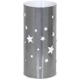 Lampada da Tavolo Starlight Colore Argento, Bianco in Metallo, Plastica, L10xP10xA22,5 cm