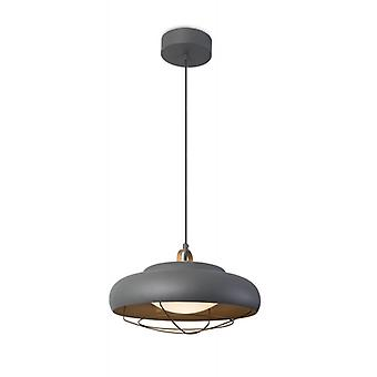 Sugar Pendant Light, Aluminum And Acrylic, Urban Gray And Gold
