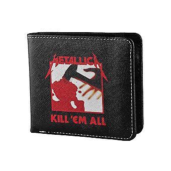 Metallica Wallet Kill Em All Album Band Logo nouveau Bifold noir officiel