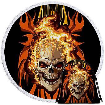 Skull on Fire ranta pyyhe