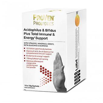 Proven Probióticos Acidophilus & Bifidus Plus Total Immune & Energy Sachets 14 (PR11)