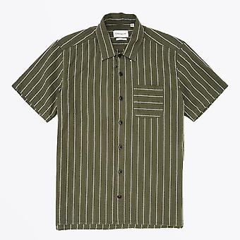 Oliver Spencer  - Hawaiian Stripe Shirt - Green