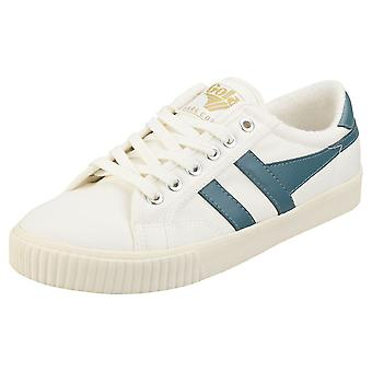 Gola Tennis Mark Cox Womens Casual Utbildare i Off White Teal