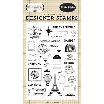 Carta Bella Se Verden Klare Frimærker