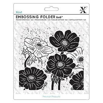 Xcut 6x6 Inch Embossing Folder Full Bloom Helleborus