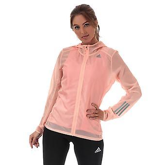 Frauen's adidas Response Jacket in Pink